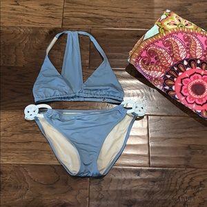 Victoria Secret Steel Blue Bikini 👙 M/L
